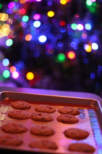 Chocolate Chip Candy Cane Cookies by Doughvelopment